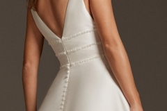 A-line-wedding-dress-with-V-neckline-closeup-back