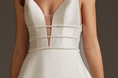 A-line-wedding-dress-with-V-neckline-closeup-front