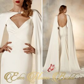 sexy caped wedding dress eden manor bridal wexford