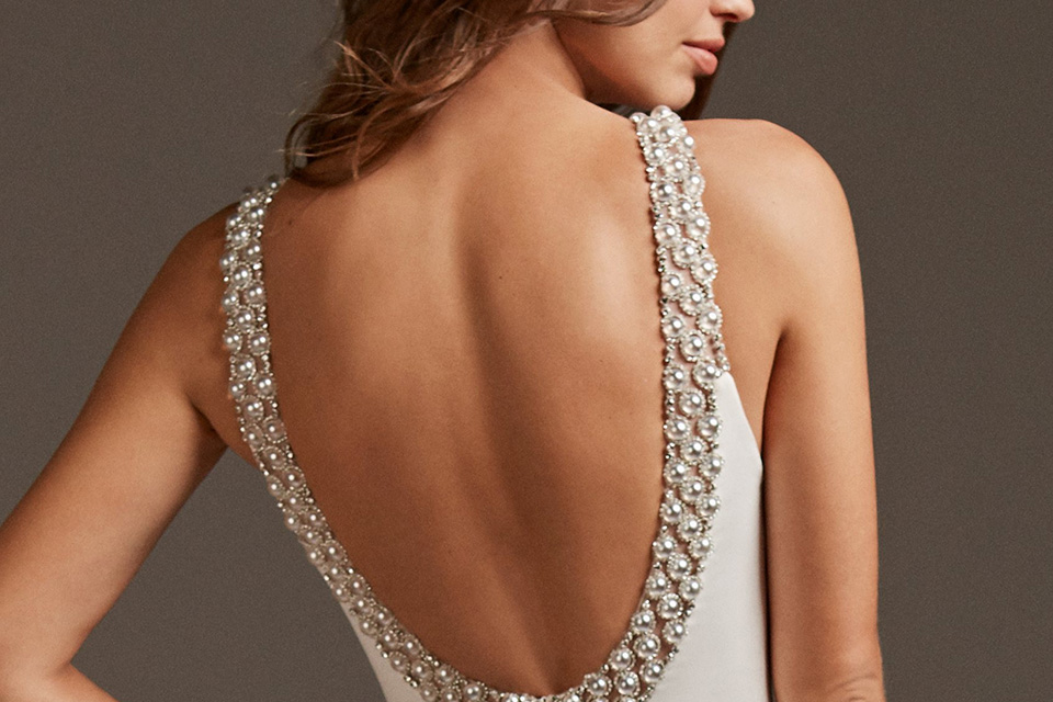 Beaded Wedding Dress Detail